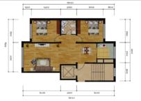 金林小镇2室2厅1卫户型图