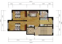 金林小镇2室1厅1卫户型图